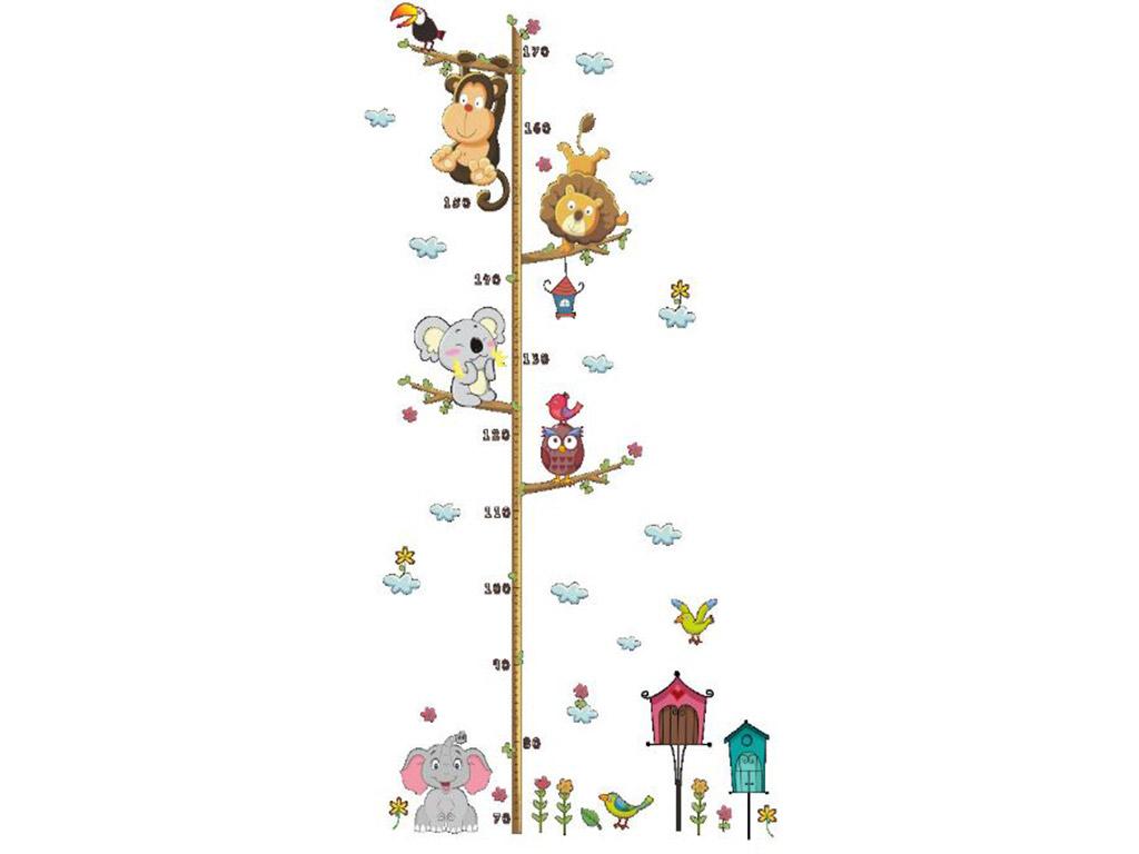 sticker-metru-copii-animale-folina-acrobati-printre-crengi-8490