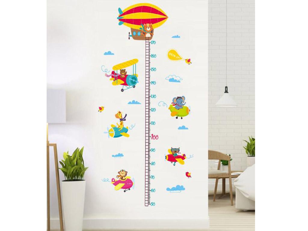 sticker-metru-copii-folina-model-avioane-colorate-8139