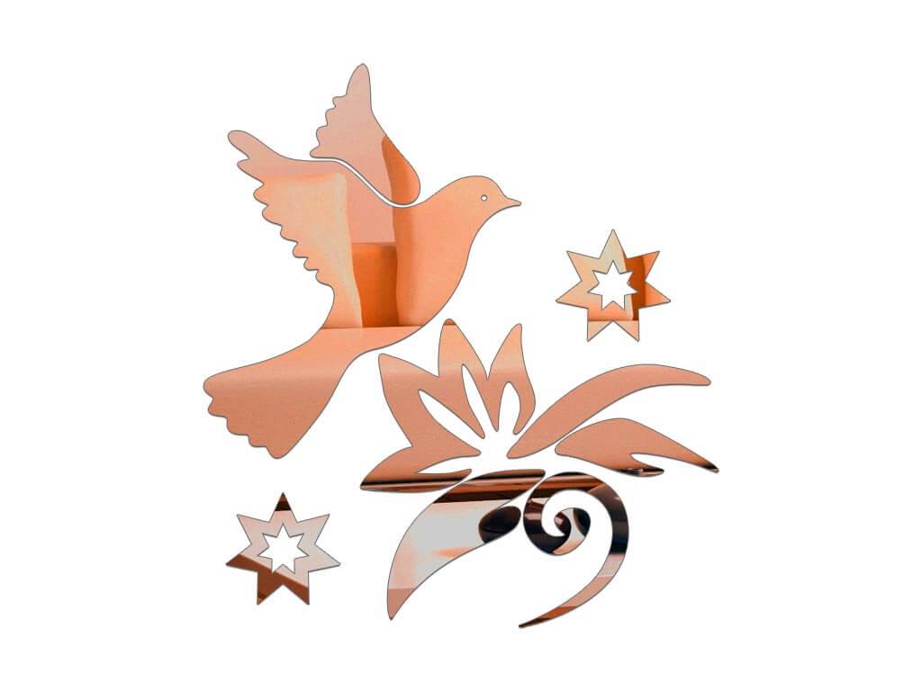 sticker-oglinda-bronz-pasare-in-zbor-8402