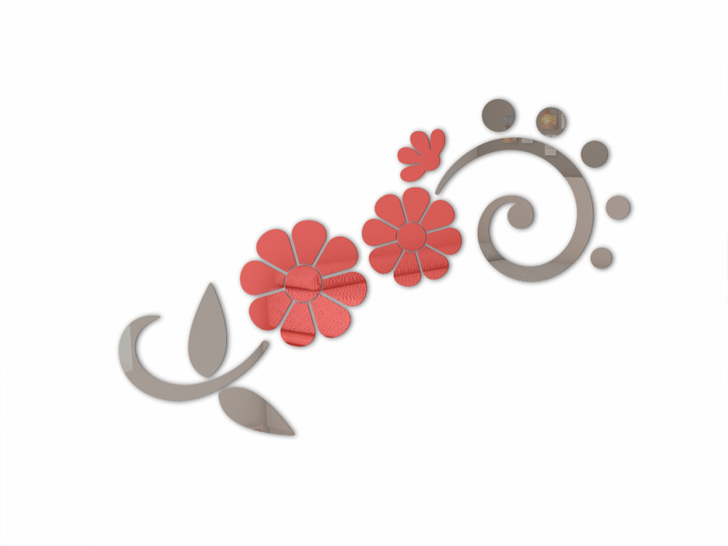 sticker-oglinda-floare-rosie-8457