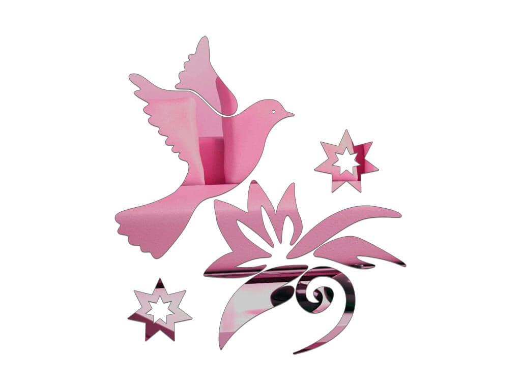 sticker-oglinda-roz-pasare-in-zbor-7901