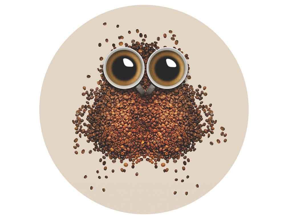 sticker-perete-bufnita-din-boabe-cafea-8069