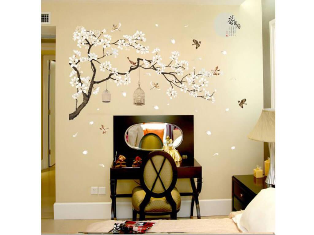 sticker-perete-creanga-flori-magnolie-bej-6641