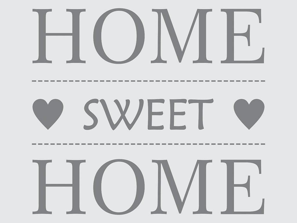Sticker Home sweet Home, Folina, decorațiune perete gri, dimensiune sticker 50x50 cm