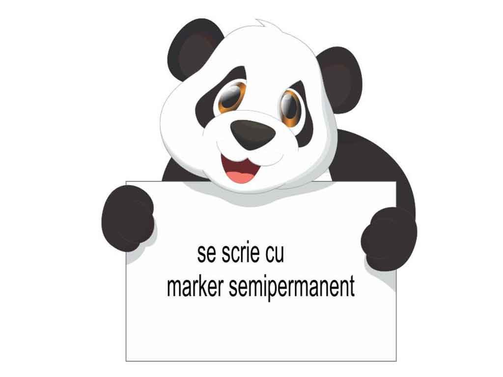 Sticker whiteboard Panda