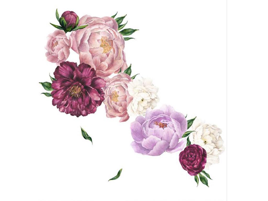 stickere-florale-mov-bujori-mari-1026