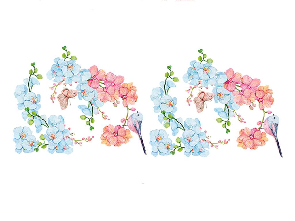 stickere-flori-folina-orhidee-in-nuante-pastel-3498