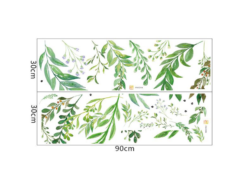 stickere-frunze-verzi-watercolor-1300
