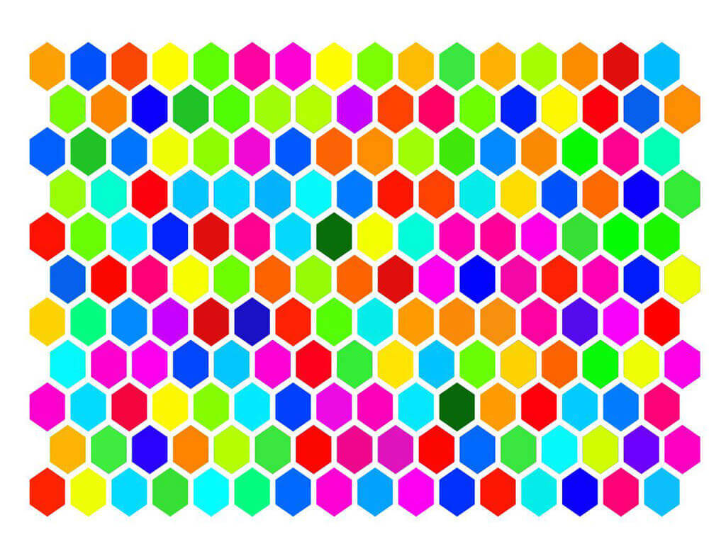 Stickere Hexagoane colorate