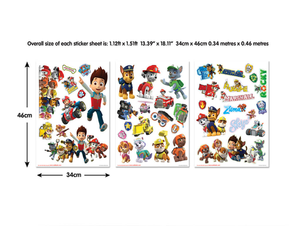 Set Stickere Patrula Căţeluşilor Paw Patrol Stickere Copii