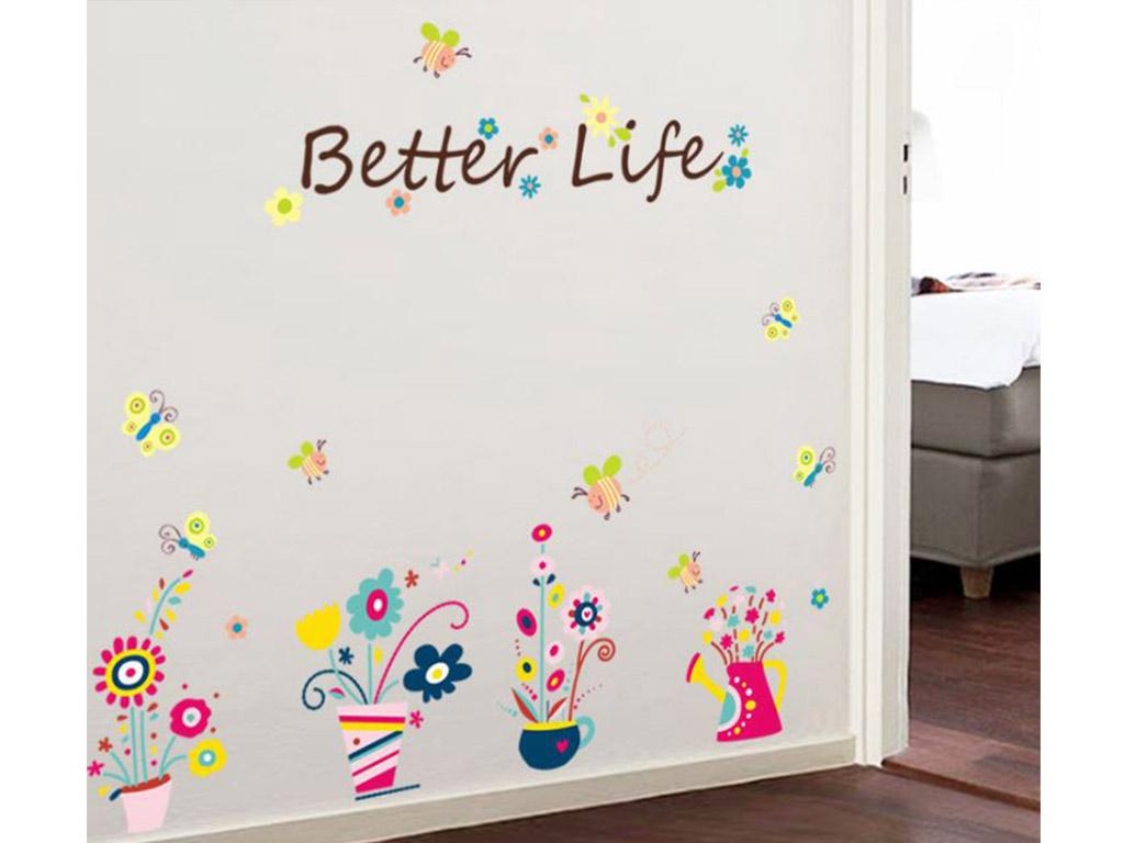 stickere-perete-decor-flori-colorate-8833