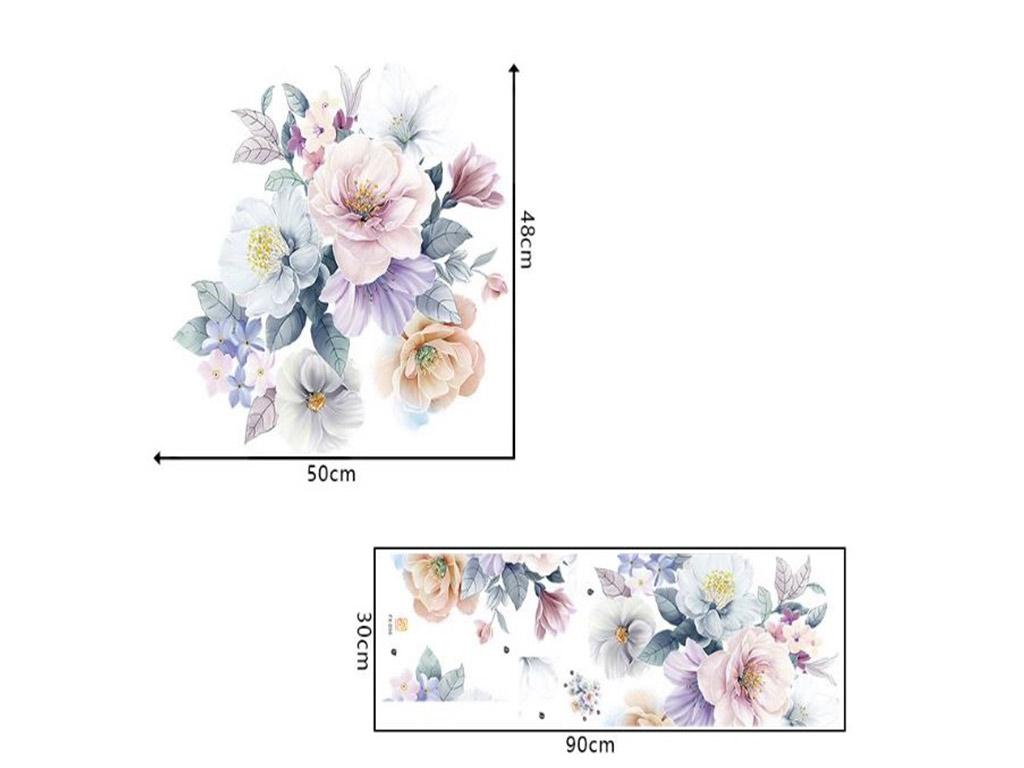 stickere-perete-flori-pastel-4323