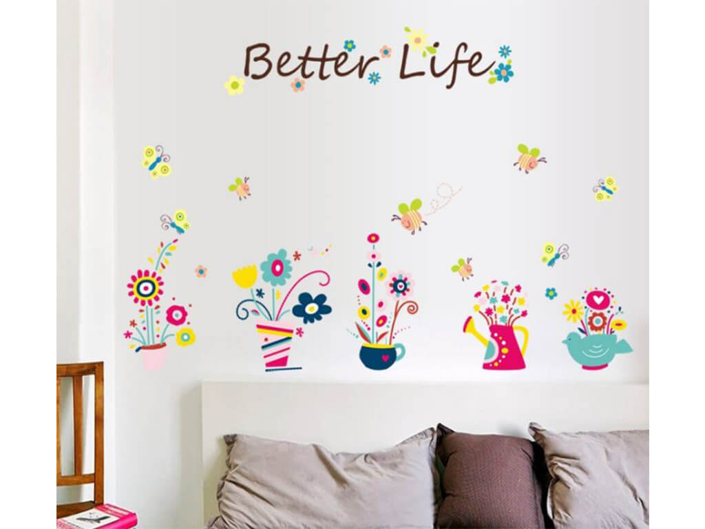 stickere-perete-folina-decor-floral-multicolor-better-life-9109