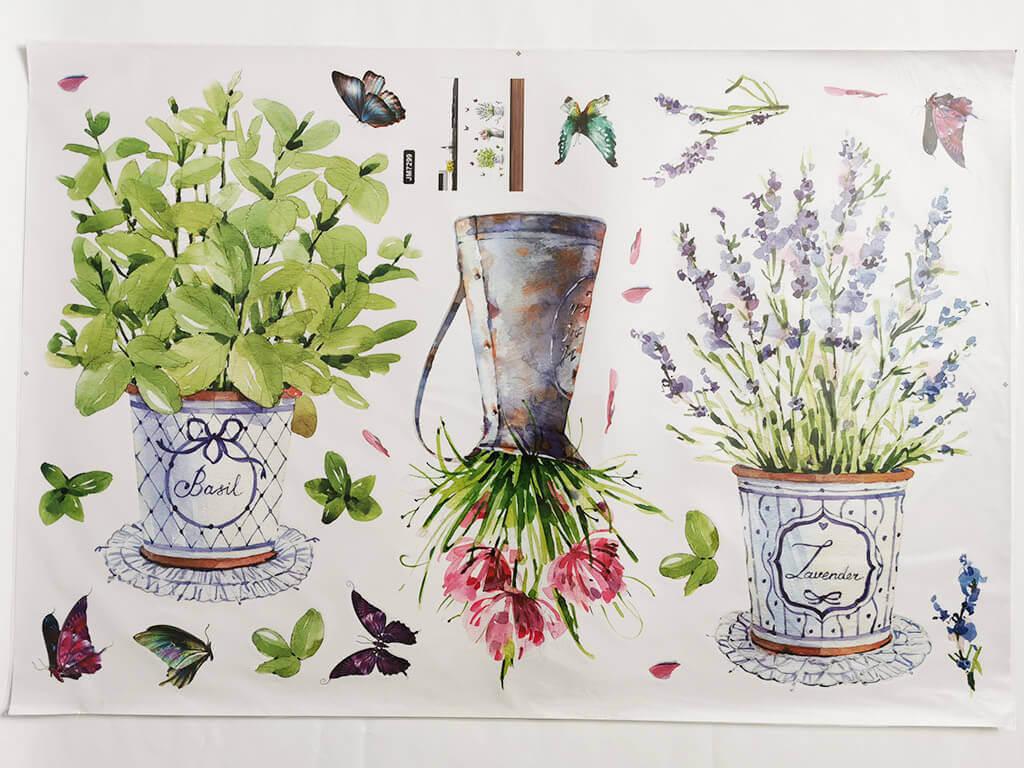 stickere-flori-watercolor-decor-rustic