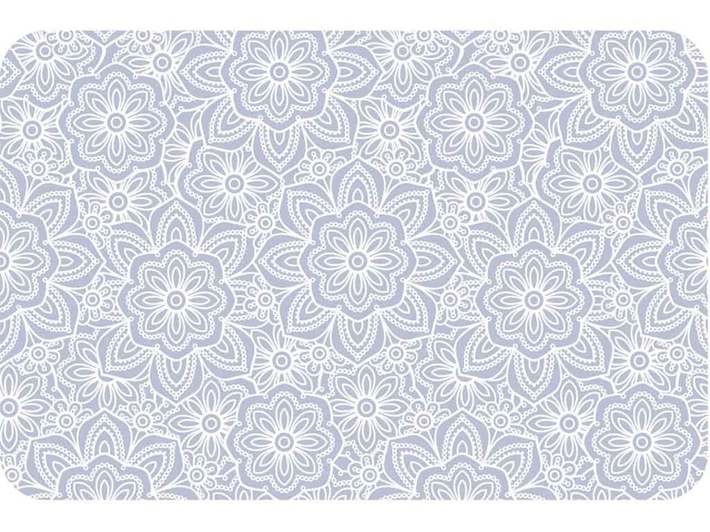 suport farfurii masa cu model floral alb tip sienna si transparent. Black Bedroom Furniture Sets. Home Design Ideas