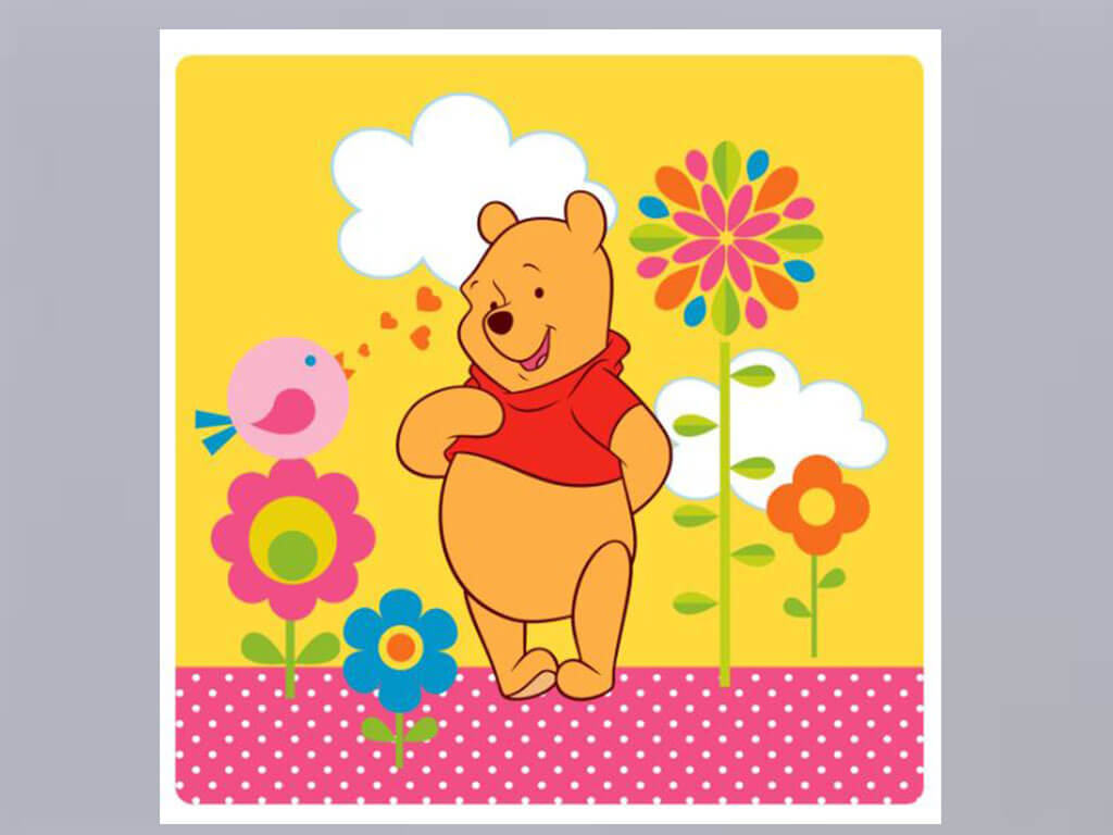 Tablou Winnie the Pooh, AGDesign, decorațiune pentru copii, tablou din acril transparent
