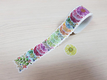 Abţibilduri Washi Tape, Folina, model flori, multicolor
