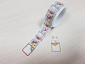 Abţibilduri Washi Tape, Folina, model iepuraşi