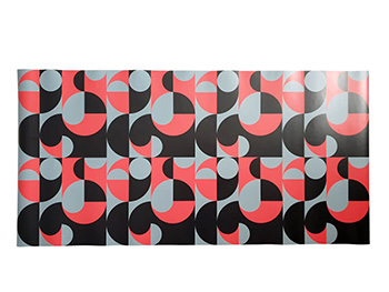Autocolant decorativ, Folina, model geometric retro, 100 cm lăţime