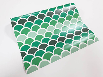 Autocolant decorativ, Folina, model geometric verde, 100 cm lăţime