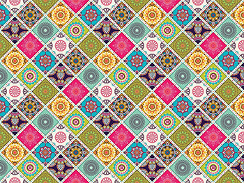 Autocolant mozaic colorat, Folina, model geometric, multicolor - 60x200 cm