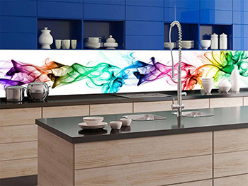 Autocolant perete backsplash, Dimex, White Smoke, 60x350 cm