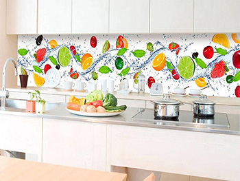 Autocolant perete backsplash, Dimex, model fructe, multicolor, 60x350 cm