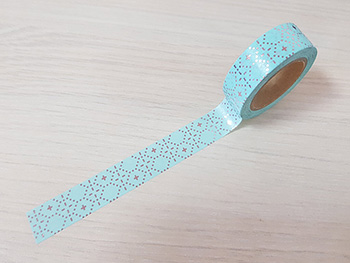 Bandă adezivă Washi Tape Aqua Design
