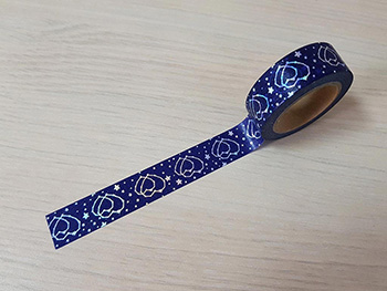 Bandă adezivă Washi Tape Blue hearts