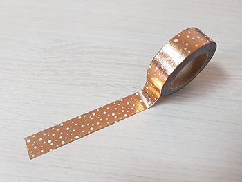 Bandă adezivă Washi Tape copper galaxy