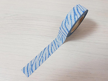 Bandă adezivă Washi Tape Glitter Waves, Folina, model cu sclipici, 15mmx5m
