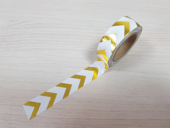 Bandă adezivă Washi Tape Gold Indy