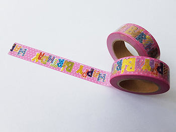 Bandă adezivă Washi Tape Happy Birthday