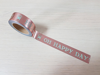 Bandă adezivă Washi Tape Happy Day