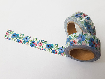 Bandă adezivă Washi Tape model floral 5