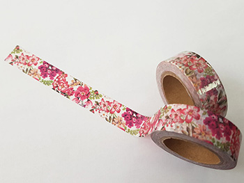 Bandă adezivă Washi Tape model floral 9