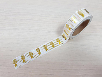 Bandă adezivă Washi Tape Pineapple Gold