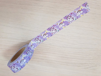 Bandă adezivă Washi Tape Unicorn