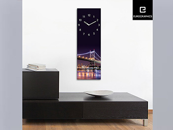 Ceas decorativ din sticlă New York City Lights