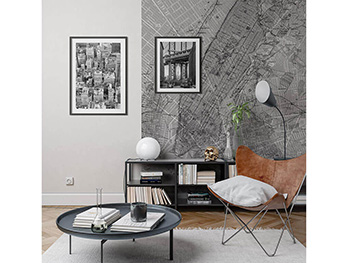 Decor perete NYC Map