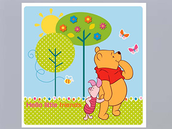 Tablou Winnie the Pooh Little Friends, AGDesign, decorațiune pentru copii, tablou multicolor