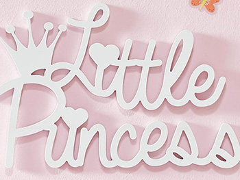 Decorațiune perete Little Princess, d-c-fix, alb, 40 x 27 cm