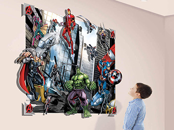 Fototapet 3D Supereroi Marvel Pop Out Decoration