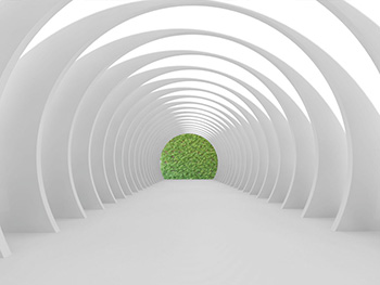 Fototapet 3D White Tunnel