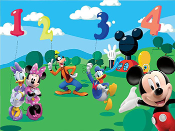 Fototapet Mickey Mouse Numbers