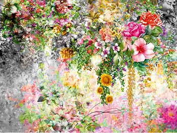 Fototapet floral Saray, AGDesign, multicolor, 360x270 cm