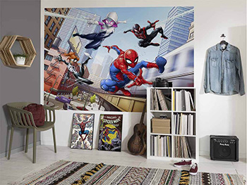 Fototapet Spider Man Friendly Neighbours, Komar, multicolor, dimensiune fototapet 254x184 cm