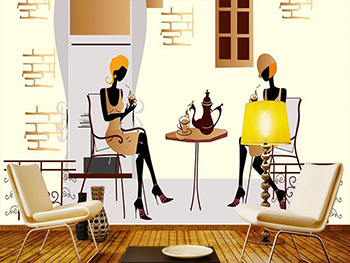 Fototapet Street Coffee, Dimex, model grafic, 375x250 cm