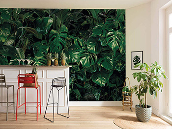 Fototapet Tropical Wall, Komar, verde intens, 400x250 cm