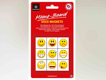 Magneţi decorativi Emoticoane, Eurographics, multicolor, set 9 bucăți